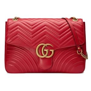 Gucci Large GG Marmont Leather Shoulder Bag